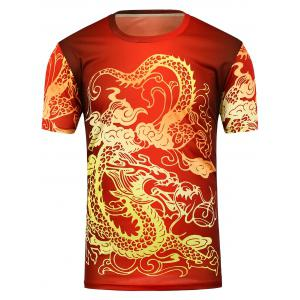 Dragon Print Short Sleeve T-Shirt