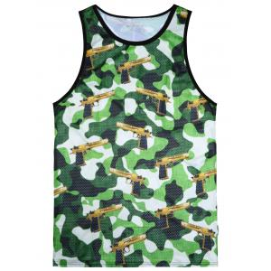 Camo Digital Print Tank Top - Colormix - M