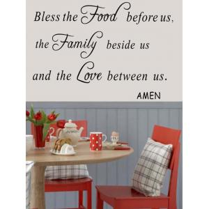 Removable English Quote Wall Stickers