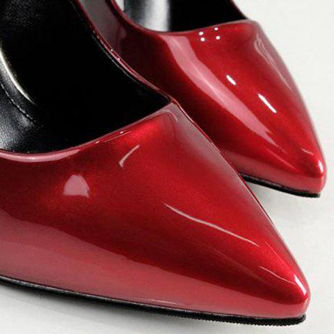 Discount Ombre Pointed Toe Pumps - 39 RED Mobile