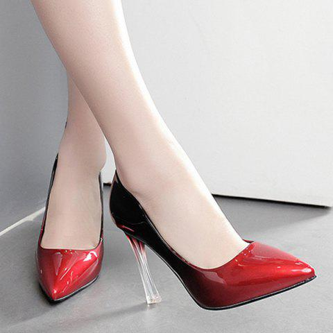 Best Ombre Pointed Toe Pumps - 39 RED Mobile