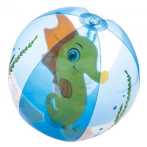 Trendy Outdoor Transparent Inflatable Beach Ball with Animal Inside -   Mobile