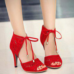 Hollow Out Stiletto Heel Sandals
