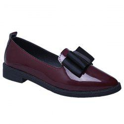 Pointu Chaussures plates Bow - Rouge Vineux