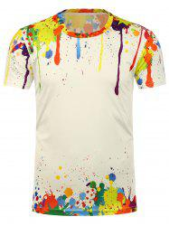 3D Splatter Paint Short Sleeve Tee