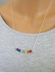 Multicolour Fake Gemstone Beads Necklace