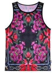 Breathable Floral Tank Top