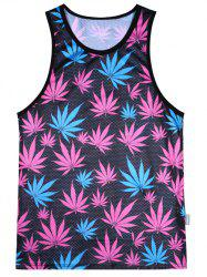 Maple Leaf Mesh Tank Top - COLORMIX