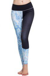 Fashionable Elastic Waist Printed Sport Leggings For Women