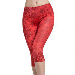 Chic High Waist Snowflake Sport Leggings For Women -
