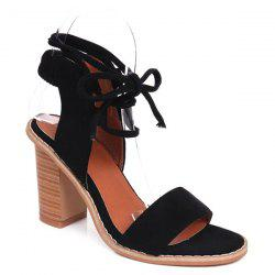 Tie Up Suede Sandals