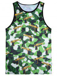 Camo Digital Print Tank Top
