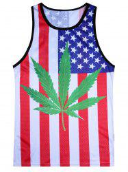 Weed Flag Motif Tank Top - Multicolore