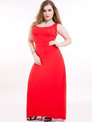 Plus Size Maxi Racerback Formal Party Dress