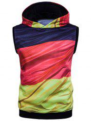 Color Block Sleeveless Hoodie
