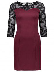 Lace Back Bodycon Mini Fitted Dress
