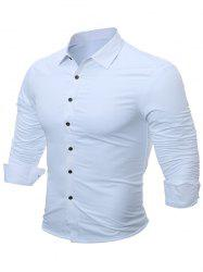 Slim Fit Flocking Long Sleeve Shirt