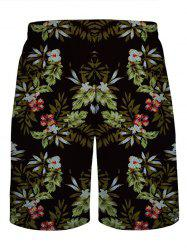 Floral Printed Board Shorts