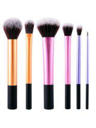 6 Pcs Nylon Colorful Makeup Brushes Set -