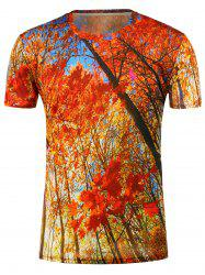 3D Maples Printed Short Sleeves T-Shirt