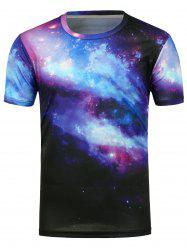 3D Galaxy Printed Short Sleeves T-Shirt