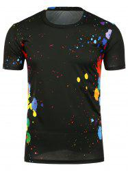 Crew Neck Paint Splatter T-Shirt