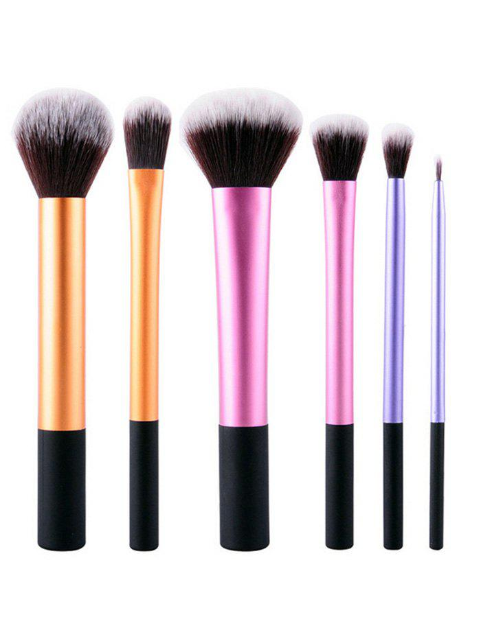 Outfit 6 Pcs Nylon Colorful Makeup Brushes Set