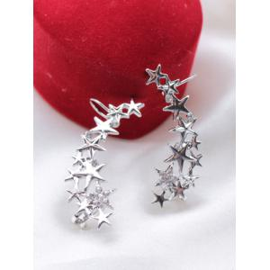Rhinestone Pentagram Ear Cuffs