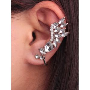 Water Drop Rhinestone Embellised Ear Cuff