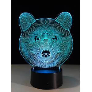 Color Change LED 3D Bear Touch Night Light -