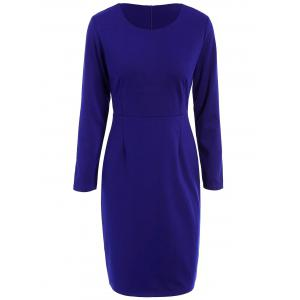 Pencil Work Dress with Long Sleeves