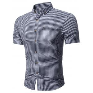 Button Down Pocket Check Shirt