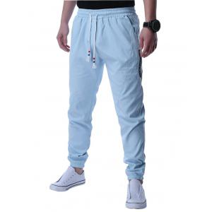 Graphic Selvedge Embellished Beam Feet Jogger Pants