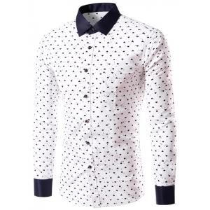 Heart Graphic Print Long Sleeve Shirt