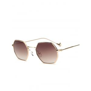 Hollow Out Leg Polygon Mirror Sunglasses