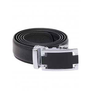 Faux Leather Belt with Plain Automatic Buckle -
