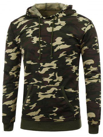 Buy Camo Print Pullover Hoodie - M CAMOUFLAGE Mobile