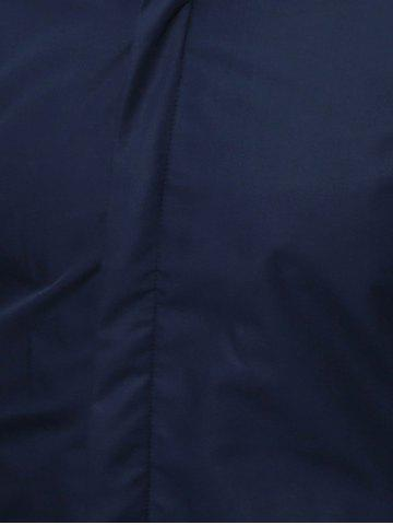 Affordable Long Sleeve Flocking Shirt - XL CADETBLUE Mobile