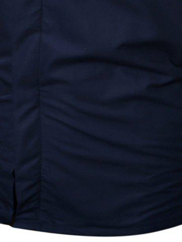 Outfit Long Sleeve Flocking Shirt - M CADETBLUE Mobile