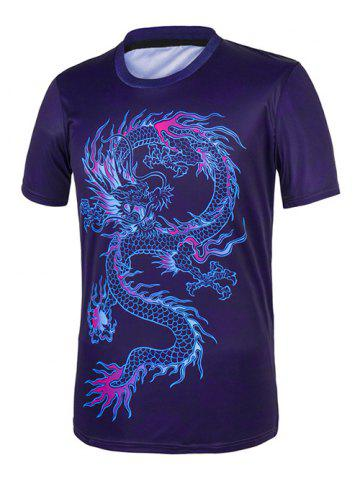 pourpre xl dragon imprimer tee. Black Bedroom Furniture Sets. Home Design Ideas