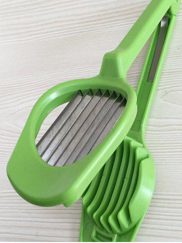 Discount Multifunctional Handheld Slicer Egg Tongs Kitchen Tool - GREEN  Mobile