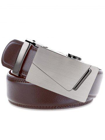 Shops Rectangle Automatic Buckle Wide Waist Belt - BROWN  Mobile