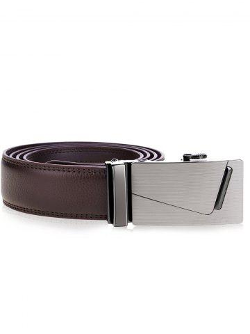 Sale Rectangle Automatic Buckle Wide Waist Belt - BROWN  Mobile