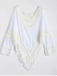Hollow Out Crocheted Beach Poncho Cover Up