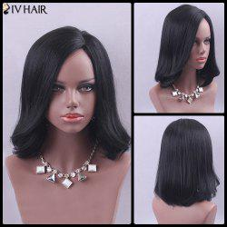 Siv Hair Medium Side Parting Outside Curly Human Hair Wig