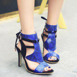Stiletto Heel Buckle Straps Sandals