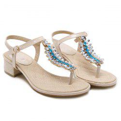 Rhinestones Patent Leather Sandals