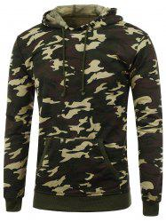 Camo Print Pullover Hoodie - CAMOUFLAGE