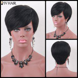Siv Hair Manly Short Side Bang Straight Human Hair Wig