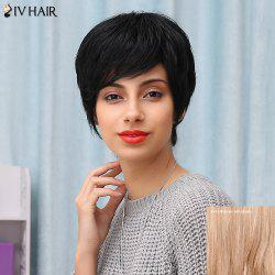 Siv Hair Short Manly Side Bang Straight Human Hair Wig